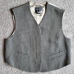 Laurèl Vintage Button-Down Wool Vest